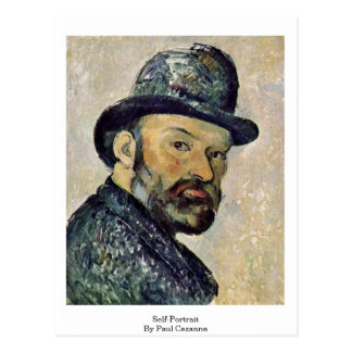 Cartão Postal Auto-Retrato por Paul Cezanne