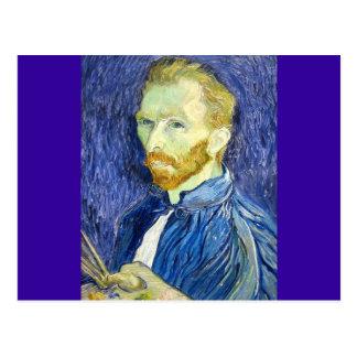 Cartão Postal Auto-retrato por Vincent van Gogh 1889