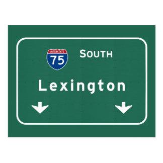 Cartão Postal Autoestrada da estrada nacional de Lexington