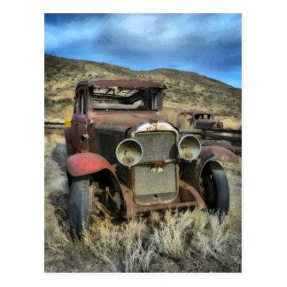 Cartão Postal Automóvel velho do temporizador