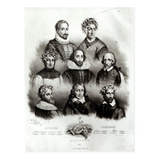 Cartão Postal Autores famosos, 1833