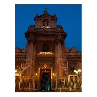 Cartão Postal Ave Maria Church em Catania