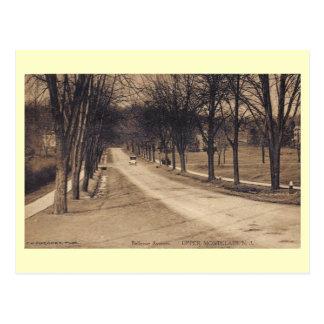Cartão Postal Avenida de Bellevue., Montclair, vintage de
