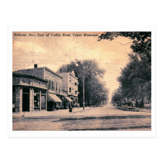 Cartão Postal Avenida de Bellevue. & vale Rd., vintage de