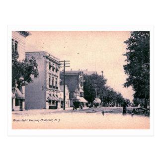 Cartão Postal Avenida de Bloomfield., vintage 1906 de Montclair