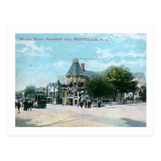 Cartão Postal Avenida de Bloomfield., vintage 1908 de Montclair
