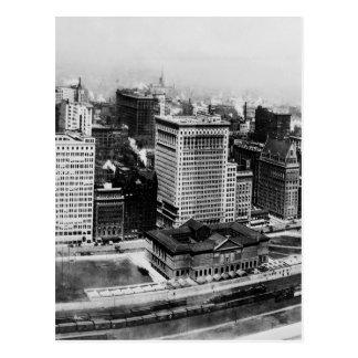 Cartão Postal Avenida de Michigan em Chicago (1911)