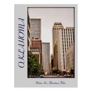 Cartão Postal Avenida de Oklahoma, Tulsa do centro, Boston,