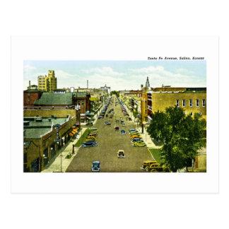 Cartão Postal Avenida de Santa Fé, Salina, Kansas