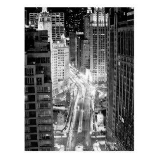 Cartão Postal Avenida norte de Michigan em Chicago após o