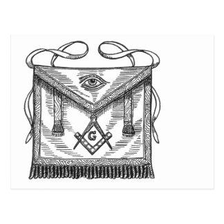 Cartão Postal Avental do Freemason