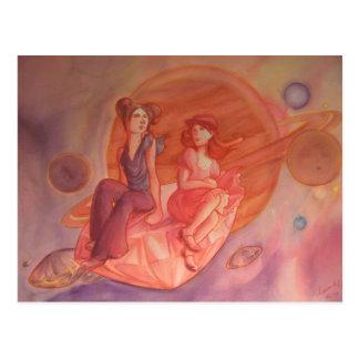 Cartão Postal Aventura através da nebulosa