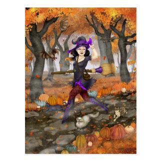 Cartão Postal Aventura do outono de Hester