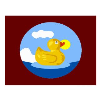 Cartão Postal Aventura Ducky de borracha