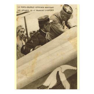 Cartão Postal Aviador francês e seu plano