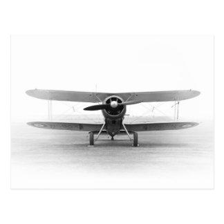 Cartão Postal Avião biplano Vintage historicamente