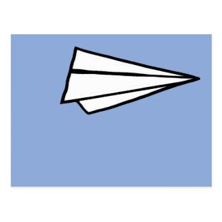 Cartão Postal avião de papel simples