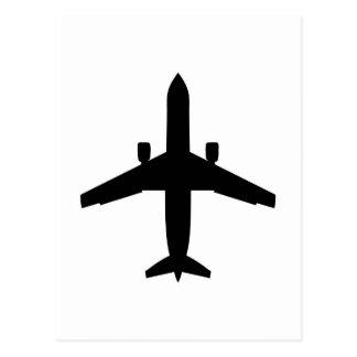 Cartão Postal avião do passageiro