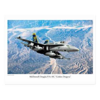 """Cartão Postal Aviation Art Postcard """"F/A-18 Hornet"""""""