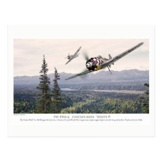 "Cartão Postal Aviation Art Postcard ""Focke-Wulf Fw 190"""