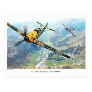 "Cartão Postal Aviation Art Postcard ""Messerschmitt Bf109E"""