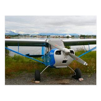 Cartão Postal Aviões altos da asa, azul & branco, Alaska