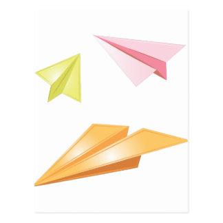 Cartão Postal Aviões de papel