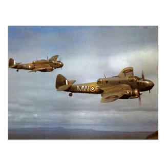 Cartão Postal Aviões WW2 históricos em vôo