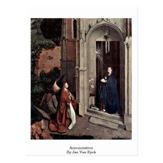 Cartão Postal Aviso daqui até janeiro Van Eyck