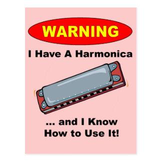 Cartão Postal Aviso! Eu tenho uma harmônica…