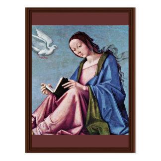 Cartão Postal Aviso (que lê Mary) pela costela de Lorenzo