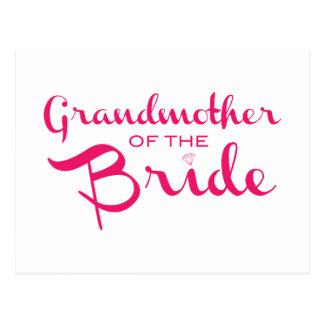 Cartão Postal Avó do rosa da noiva no branco