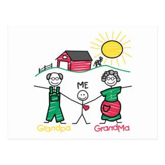 Cartão Postal Avó & mim do vovô