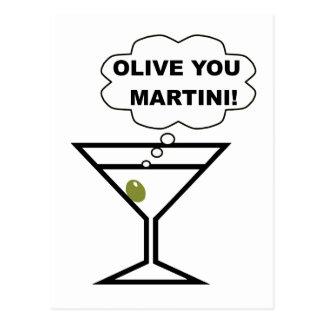 Cartão Postal Azeitona você Martini