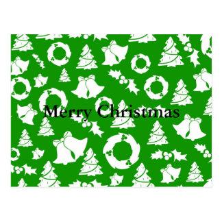 Cartão Postal Azevinho Bels da grinalda das árvores de Natal