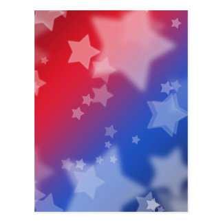 Cartão Postal Azul branco vermelho das estrelas patrióticas dos