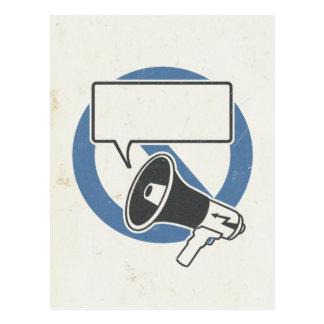Cartão Postal Azul da censura