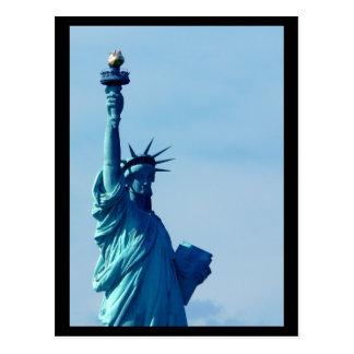 Cartão Postal Azul da estátua da liberdade de NYC