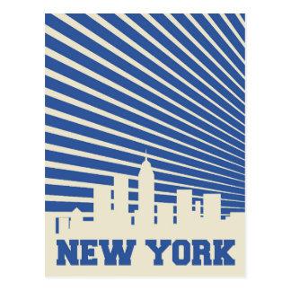 Cartão Postal Azul da Nova Iorque