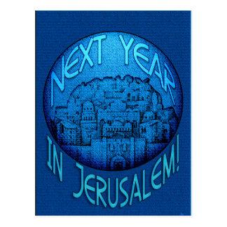 Cartão Postal Azul de Jerusalem