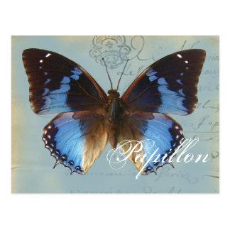 Cartão Postal Azul de Papillon
