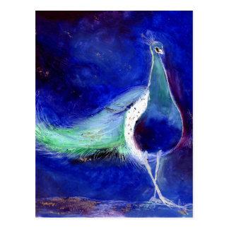 Cartão Postal Azul de pavão 2013