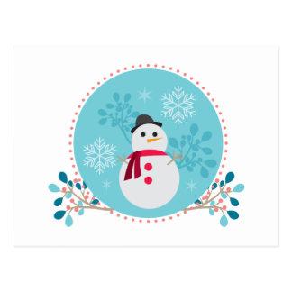 Cartão Postal Azul de turquesa original bonito do Natal do