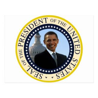 Cartão Postal Azul do selo de Obama