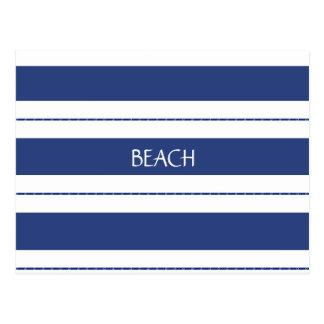 Cartão Postal Azul e branco listrados
