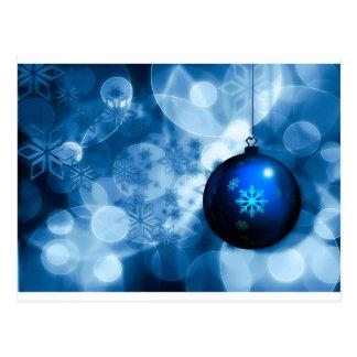 Cartão Postal Azul e White Christmas