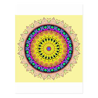 Cartão Postal Azul macio linear novo do amarelo da areia