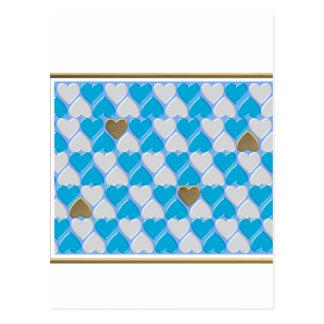 Cartão Postal Azul, teste padrão bávaro branco