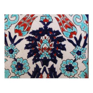 Cartão Postal Azulejo clássico do otomano do VINTAGE