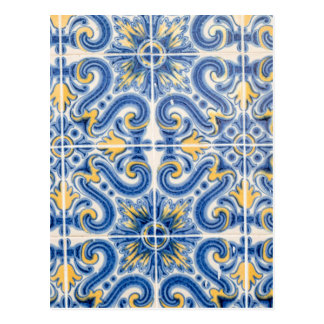 Cartão Postal Azulejo do azul e do amarelo, Portugal